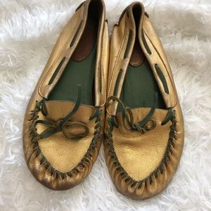 Jeffrey Campbell Frontier Moccasins Gold